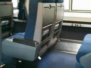 Spacious seats on Amtrak