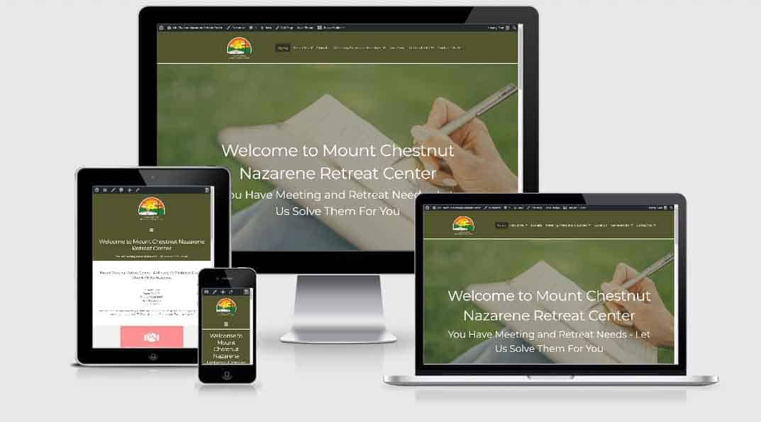 A website we completely revamped for Mount Chestnut Nazarene Retreat Center.