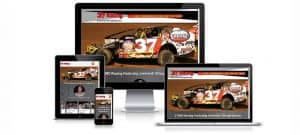 Photo of 37MD Racing website on various size devices.