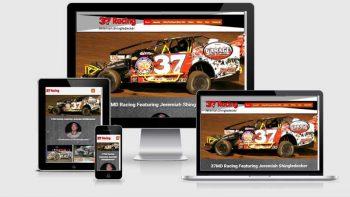 Portfolio view of 37md Racing website at https://37mdracing.com/.