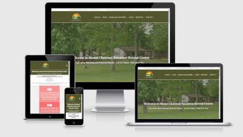 Portfolio view of Mt. Chestnut Nazarene Retreat Center website at https://mtchestnutcenter.org/.